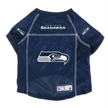 LMFON Seattle Seahawks Pet Mesh Jersey