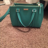 Kate Spade NY small teal purse