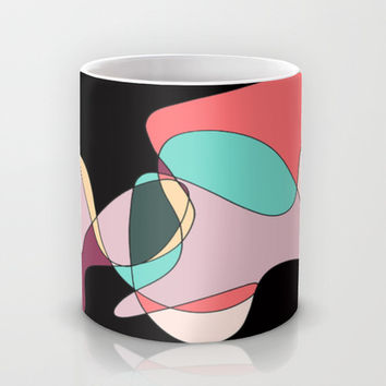 Abstract 1 (Black) Mug by DuckyB (Brandi)