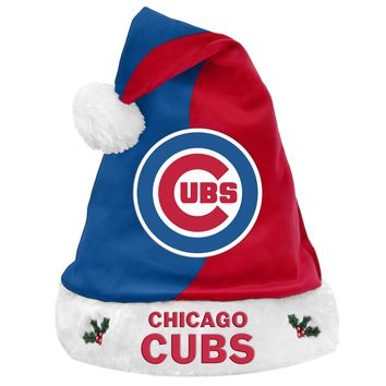 Chicago Cubs Official MLB 2017 Santa Hat