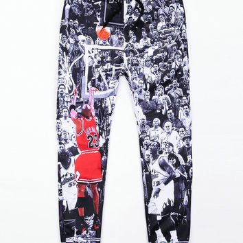 Basketball Digital Print Trousers