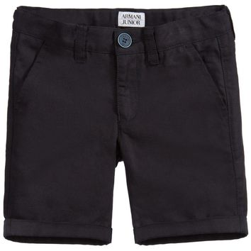 Armani Boys Navy Bermuda Shorts