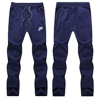 NIKE Women Men Lover Casual Pants Trousers Sweatpants Blue I