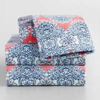 Coral Esme Printed Velour Towel Collection