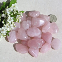 5 Large Rose Quartz Crystal Tumblestones
