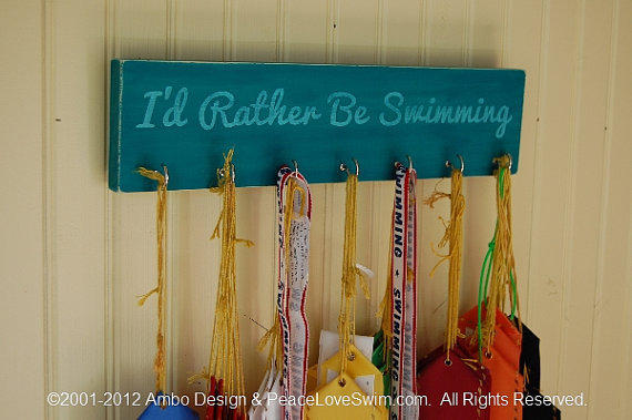 I D Rather Be Swimming Ribbon Hanging From Ambodesign On Etsy