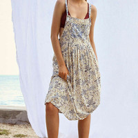 Kimchi Blue Annie Overall Midi Dress   Urban Outfitters
