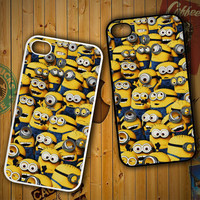 Minions Pattern Y1329 LG G2 G3, Nexus 4 5, Xperia Z2, iPhone 4S 5S 5C 6 6 Plus, iPod 4 5 Case