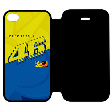 VALENTINO ROSSI VR46 MOVISTAR YAMAHA MOTOGP iPhone 4 | 4S Flip Case Cover