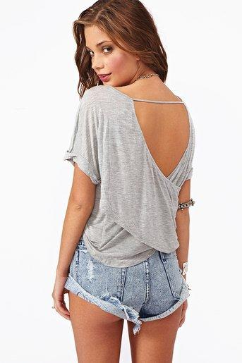 Draped Back Tee in Clothes at Nasty Gal
