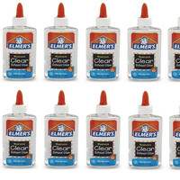 12 bottles of Elmer's Clear Glue, 5 oz of Slime Glue - Great for slime sellers, slime parties- Elmers glue pack