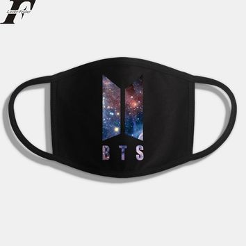 BTS KPOP BTS Bangtan Boy New Anime Wings Army Dust Cotton Mouth-muffle Face Masks Women Maschere Antipolvere Masques