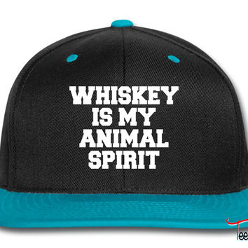 Whiskey Is My Animal Spirit Snapback