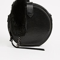 Mini Canteen Bag with Fur Strap