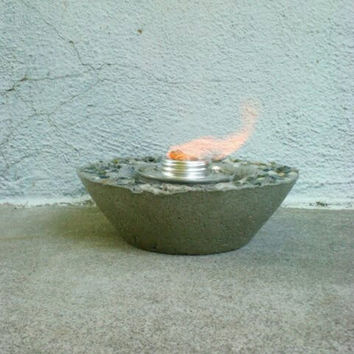Concrete Fire Bowl Bowl Trinket Holder Bird by DeerwoodCreekGifts