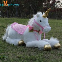 BOOKFONG 85cm Jumbo White Unicorn Plush Toys Giant Stuffed Animal Soft Doll Home Decor Children Photo Props
