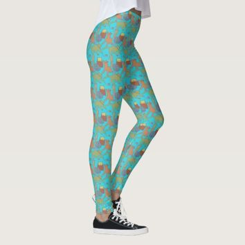 Colorful Cats Being Cats (blue) Leggings