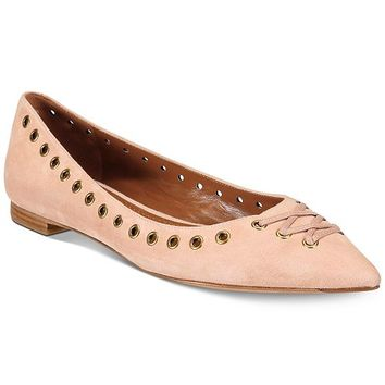 COACH Valerie Lace-Up Detail Flats Shoes - Flats - Macy's