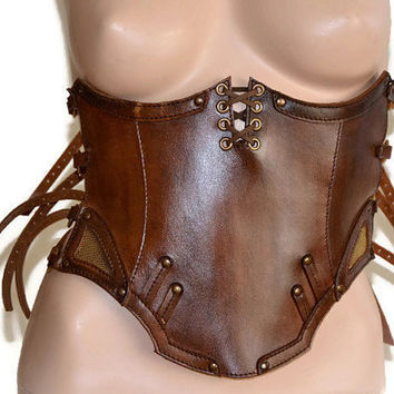 Steampunk corset leather corset cosplay corset mad max costume steampunk style SEXY leather brace steampunk