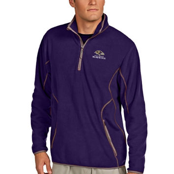 Baltimore Ravens Antigua Quarter Zip Microfleece Pullover Jacket – Purple