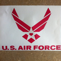 Pink Air Force Decal