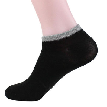 Socks Men Casual Daily Wear Socks Ankle Socks Solid Cheap Autumn Wear Meias Homens#A127 SM6