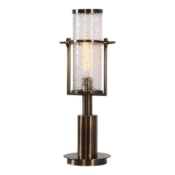 Marrave Stacked Iron Antiqued Brass Accent Lamp by Uttermost