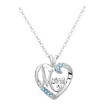 Best Gift for Mom Mothers Day Present Crystal Necklace Jewelry for Love Ones_847
