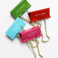 Hold On Tight Binder Clips: Kate Spade