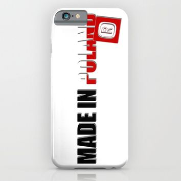 Made in Poland, patriotic shirts, country proud tee shirt design iPhone & iPod Case by Peter Reiss