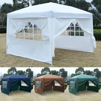 GOPLUS 10'X10' EZ POP UP Tent Gazebo Wedding Party Canopy Shelter Carry Bag New