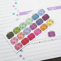 15 Vacation Suitcase Die-Cut Stickers // (Perfect for Erin Condren Life Planners)
