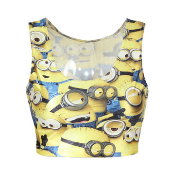 One In a Minion Crop Top | Despicable Me Crop Top - One Size - CT-093