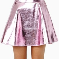 Electric Metal Skirt - Pink