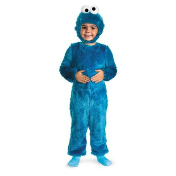 Sesame Street Furry Cookie Monster Costume - Baby (Blue)