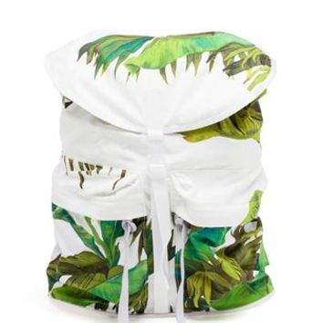 OFF WHITE | Banana Leaves Print Backpack | Browns fashion & designer clothes & clothing