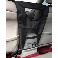 Vehicle Pet Carrier Safety Mesh Dog Car Front Seat Protector For Most Cars SUV Prevent Dogs Access to The Front Seats