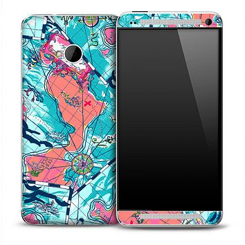 Abstract Map Skin for the HTC One Phone