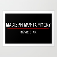 Madison Montgomery: Movie Star Art Print by Lukas Emory