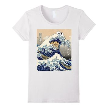 Funny Japanese Cookie Great Wave off Kanagawa T-Shirt