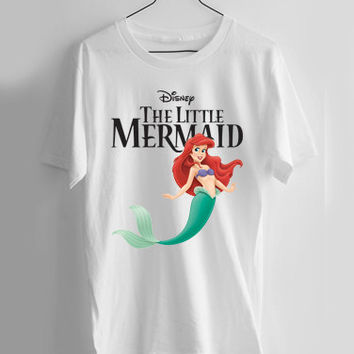 the little mermaid logo T-shirt Men, Women and Youth