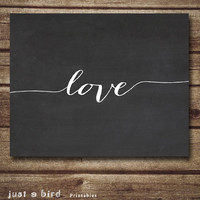 Valentine's day printable art wall decor poster, chalkboard typography printables nursery children's room - INSTANT DOWNLOAD