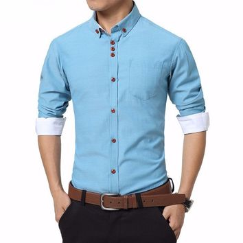 JoeJoe Casual Men Shirt Long Sleeve