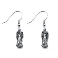 Doctor Who Weeping Angels Dangle Earrings