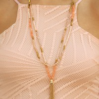 Chimes At Midnight Necklace: Gold/Multi