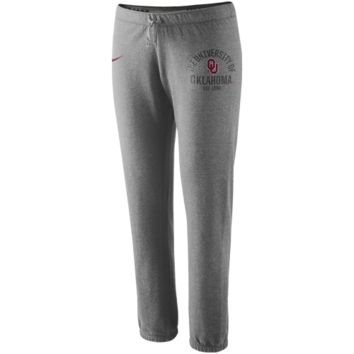 Nike Oklahoma Sooners Ladies Rally Fleece Pants - Ash
