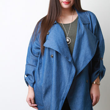 Lightweight Chambray Button Jacket