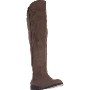 SC35 Hadleyy Wide Calf Knee High Boots, Truffle, 5 US