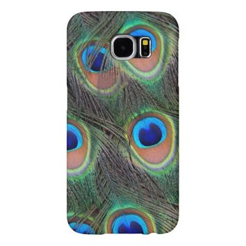Peacock Feathers Photo Samsung Galaxy S6 Cases
