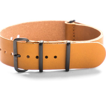 PVD LEATHER NATO STRAP HONEY
